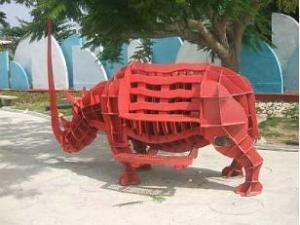 Rinoceronte del Parque de las Esculturas
