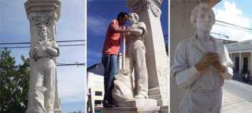 Restauran construcciones conmemorativas en Cienfuegos