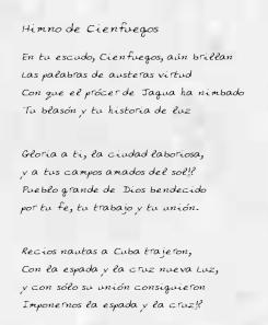 Rememoran 95 años del Himno de Cienfuegos