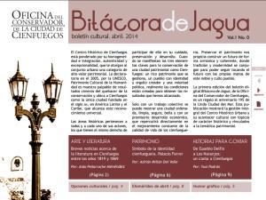 Ya está disponible el No. 9 del Boletín Bitácora de Jagua