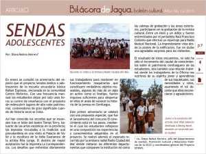 Ya está disponible el Número 10 del Boletín Bitácora de Jagua