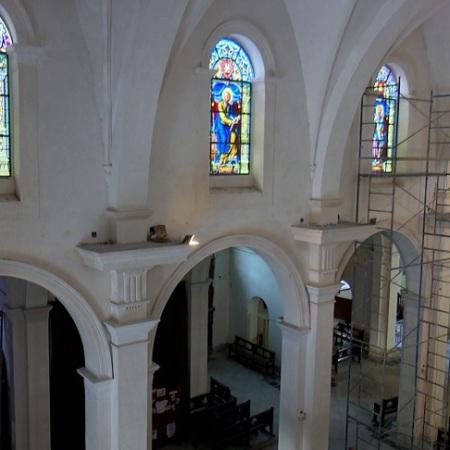 Concluyó restauración de vitrales de la catedral de Cienfuegos