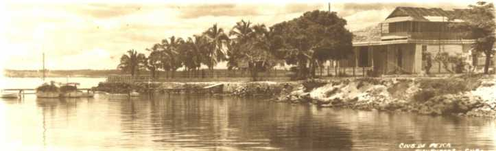 Cayo Carenas, islote en medio de otra isla. Foto de Cayo Carenas en 1950