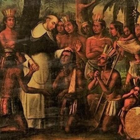 Bartolomé de Las Casas en la zona de Jagua, actualmente Cienfuegos