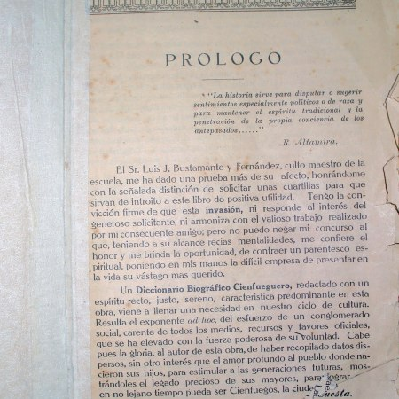 Luís J. Bustamante, historiador y bibliógrafo de la ciudad de Cienfuegos