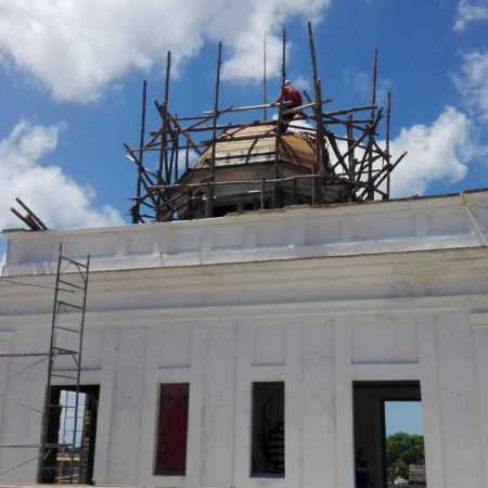 Rescatan cúpula del Palacio García de la Noceda en Cienfuegos
